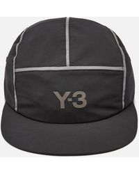 Y-3 Reflective 5 Panel Cap - Black
