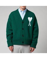 AMI De Coeur Oversized Cardigan - Green