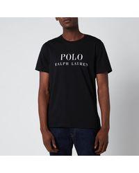 Polo Ralph Lauren Liquid Cotton Branded Crewneck T-shirt - Black