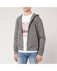 KENZO Sport Zip Up Hoody - Grey