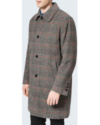 Maison Kitsuné Check Bill Classic Coat - Gray