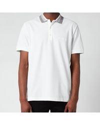Missoni Contrast Collar Pique Polo Shirt - White