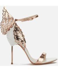 Sophia Webster Evangeline Winged Leather Sandals - White