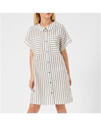 Karl Lagerfeld - Women's Captain Karl Stripe Dress - Lyst