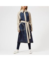 T By Alexander Wang - Women's Chino Mixed Media Trench Coat - Lyst