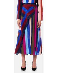 Diane von Furstenberg - Women's Draped Wrap Maxi Skirt - Lyst