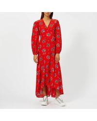 8ab44ca9 Ganni - Kochhar Floral Maxi-dress - Lyst