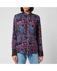 PS by Paul Smith - Printed Blouse - Lyst