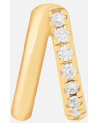 Astrid & Miyu Illusion Crystal Clicker In Gold - Metallic