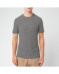 Officine Generale Japanese Stripe Short Sleeve T-shirt - Black