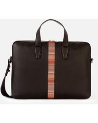 PS by Paul Smith Signature Stripe Document Bag - Black