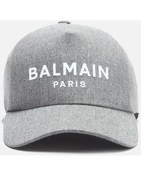 Balmain Wool Cap - Grey