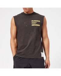 Satisfy Men's Cult Moth Eaten Muscle Tshirt - Black