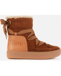 See By Chloé Suede/leather Snow Boots - Brown