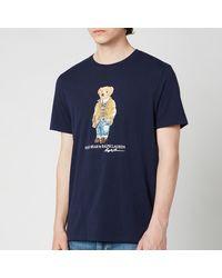 Polo Ralph Lauren Jersey Polo Bear T-shirt - Blue