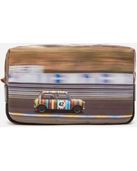 PS by Paul Smith Racing Mini Canvas Wash Bag - Multicolour