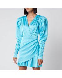 ROTATE BIRGER CHRISTENSEN Aiken Dress - Blue