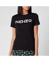 KENZO Classic Fit T-shirt Logo - Black
