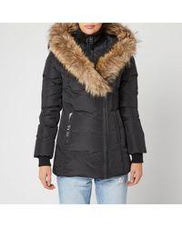 Mackage Akiva Down Coat With Signature Fur Trimmed Collar & Hood In Black - Women
