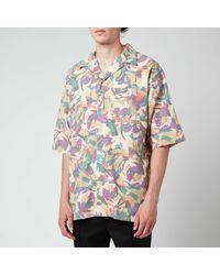 KENZO Floral Seersucker Short Sleeve Shirt - Green
