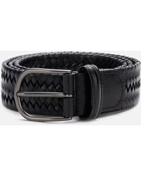 Andersons Matt Buckle Woven Belt - Black