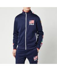 Polo Ralph Lauren Zip Up Flag Track Jacket - Blue