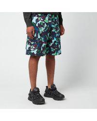 KENZO Printed Cargo Shorts - Green