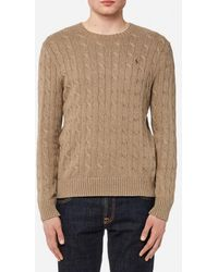 Polo Ralph Lauren - Men's Cable Knitted Long Sleeve Jumper - Lyst