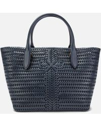 Anya Hindmarch The Neeson Calf Leather Tote Bag - Blue