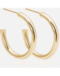Astrid & Miyu Basic Large Hoops In Gold - Multicolour