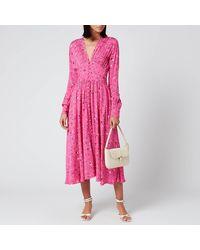 ROTATE BIRGER CHRISTENSEN Tracy Long Dress - Pink