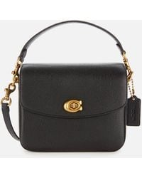 COACH Cassie 19 Leather Cross-body Bag - Black