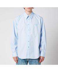 Martine Rose Classic Long Sleeve Shirt - Blue