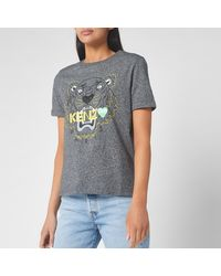 KENZO Tiger T-shirt Back From Holiday - Grey