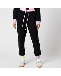 Olivia Rubin Tilda Joggers With Colourblock Ribbing - Black