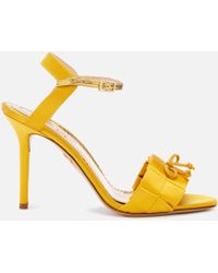 Charlotte Olympia Satin High Sandals - Yellow