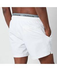 Calvin Klein Double Waistband Swim Shorts - White