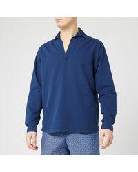 Orlebar Brown Ridley Indigo Wash Sweatshirt - Blue
