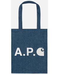 A.P.C. Alan Tote Bag - Blue