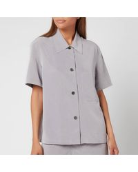 Our Legacy Short Sleeve Square Shirt - Gray