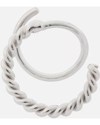 Maria Black Sofia Twirl Earring Right - Metallic