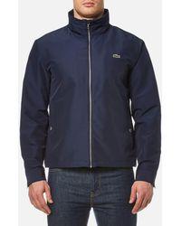 Lacoste - Zipped Rain Jacket - Lyst