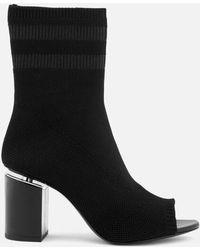 Alexander Wang - Women's Cat Black Knitted/rhodium Boots - Lyst