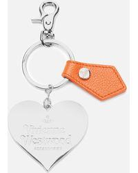 Vivienne Westwood Windsor Mirror Heart Gadget - Orange