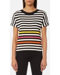 PS by Paul Smith - Women's Stripe Short Sleeve Knit Top - Lyst