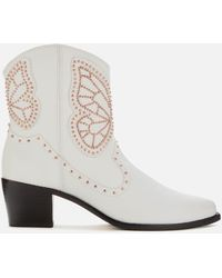 Sophia Webster Shelby Boots - White