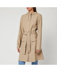 Rains Curve Jacket - Natural