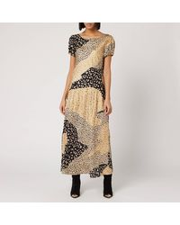 RIXO London Reese Dress - Metallic