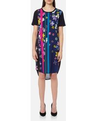PS by Paul Smith - Women's Floral Stripes Tshirt Dress - Lyst