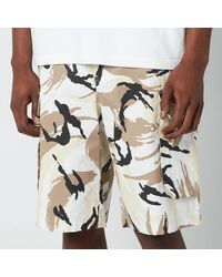 KENZO Tropic Camo Printed Cargo Shorts - White